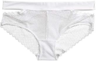 H&M Lace Hipster Briefs - White