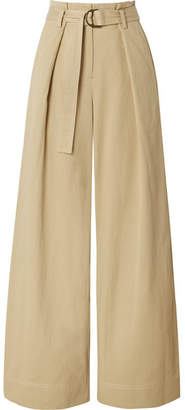 Ulla Johnson Rhodes Tencel And Cotton-blend Twill Wide-leg Pants - Beige