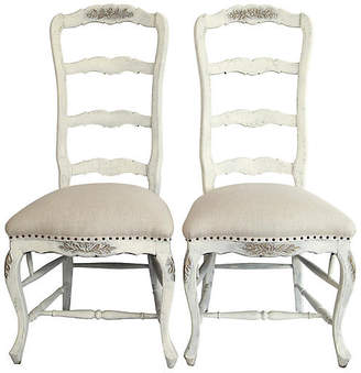 One Kings Lane Vintage Italian Ladderback Chairs - Set of 2 - Fleur de Lex Antiques