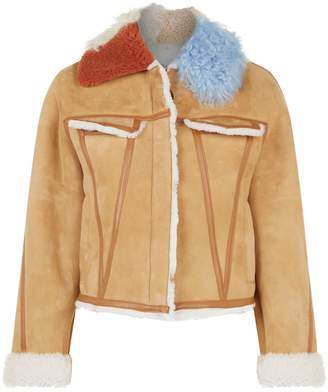 Off-White Off White Cropped Shearling Jacket