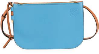 Loewe Gate Colorblock Double Zip Pouch Clutch Bag