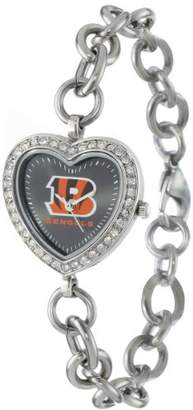 Game Time NFL Women's FH-CIN Heart Collection Cincinnati Bengals Watch