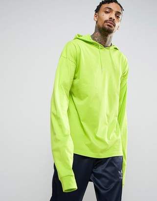 Asos Oversized Long Sleeve T-Shirt With Super Long Sleeves In Green