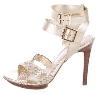 Marc Fisher Leather Woven Sandals