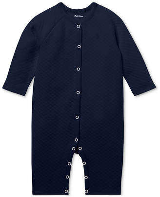 Polo Ralph Lauren Ralph Lauren Baby Boys Quilted Jacquard Coverall