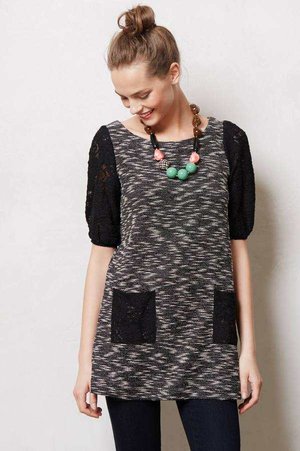 Anthropologie Staccato Lace Tunic