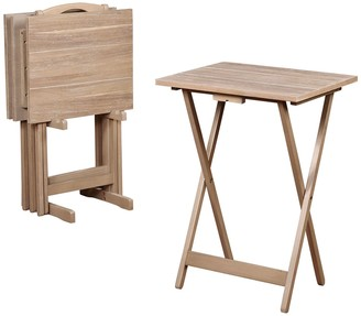 Linon TV Tray Table 5-piece Set