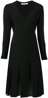 Givenchy pleated skirt V-neck dress