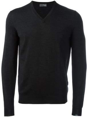 Drumohr v neck fine knit jumper