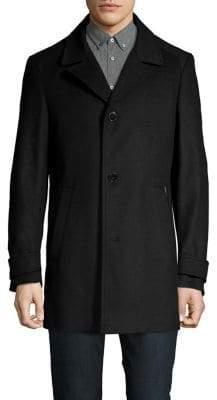 HUGO BOSS Midais Wool and Cashmere Blend Coat