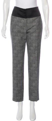 Christian Dior Straight-Leg Wool Pants