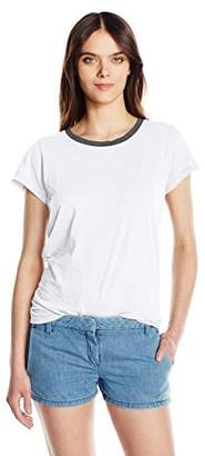 Michael Stars Women's Short Sleeve Crew Neck with Ringer Detail