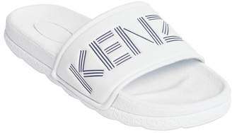 Kenzo Logo Embossed Rubber Slide Sandals
