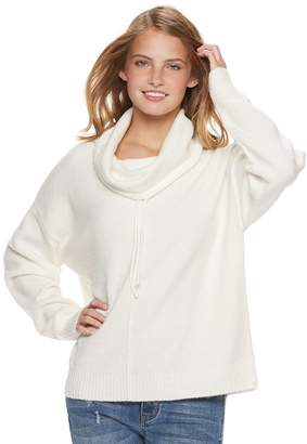 It's Our Time Its Our Time Juniors' Long Sleeve Funnel Neck Top