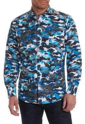 Robert Graham Camouflage Button-Down Shirt