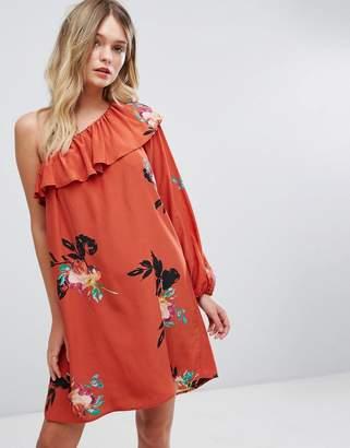 French Connection Off Shoulder Floral Printed Dress