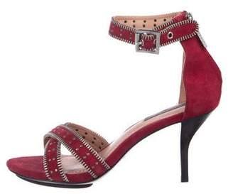 Rachel Zoe Suede Zip-Accented Sandals
