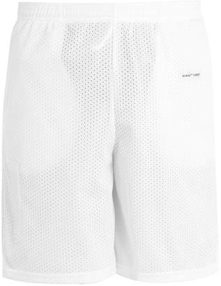 Off-White Logo-print mesh shorts