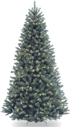 National Tree Company 7.5-ft. North Valley Spruce Hinged Pre-Lit Artificial Christmas Tree