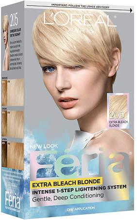 L'Oreal Paris Feria Permanent Haircolor Extra Bleach Blonde 205