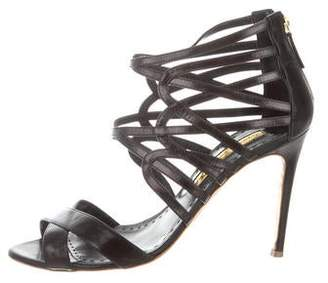 Rupert Sanderson Leather Cage Sandals