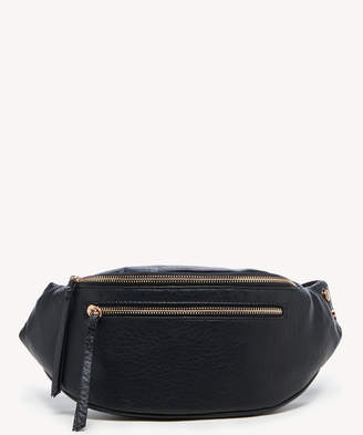 Sole Society Women's Garyn Sling Fanny Pack Faux Leather Crossbody Bag Black From