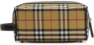 Burberry Beige Vintage Check Washbag