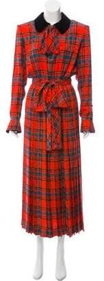 Saint Laurent Vintage Silk Plaid Dress