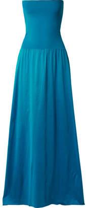 Eres Zephyr Ankara Cotton-jersey Maxi Dress - Turquoise