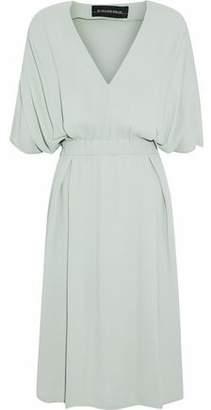 By Malene Birger Pleated Crepe Dress