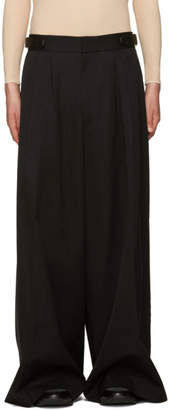 Juun.J Black Wool Wide-Leg Trousers
