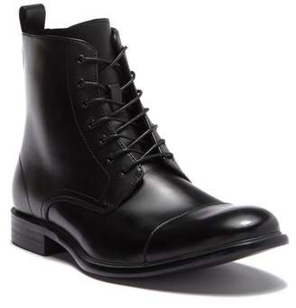 Kenneth Cole Reaction Design Leather Cap Toe Boot