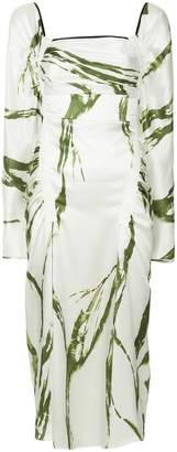 CHRISTOPHER ESBER abstracto print dress