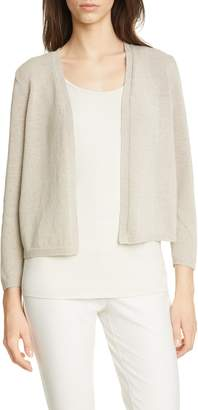Eileen Fisher Recycled Cotton Blend Crop Cardigan