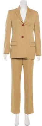 Gianni Versace Wool Mid-Rise Pants Suit