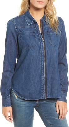 AG Jeans Christine Zip Front Denim Shirt