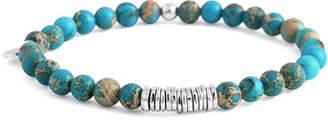 Tateossian Men's Semiprecious Beaded Disc Bracelet, Turquoise, Medium
