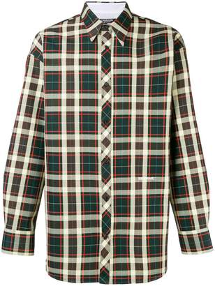 Calvin Klein oversized plaid shirt
