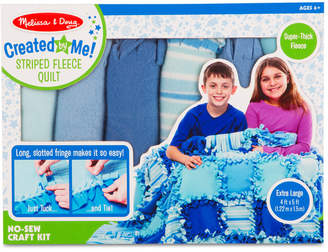 Melissa & Doug Created by Me! Striped Fleece Quilt No-Sew Craft Kit