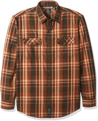G.H. Bass & Co. Men's Mountain Twill Double Pocket Plaid Long Sleeve Shirt