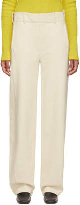 Lemaire Beige Large Twisted Lounge Pants