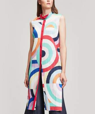 Pleats Please Issey Miyake Sleepy Circle Long Tunic Dress