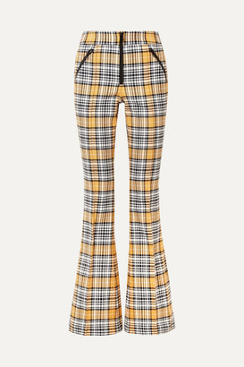 Veronica Beard Fraser Checked Cotton-blend Flared Pants