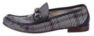 Gucci Fabric Horsebit Loafers blue Fabric Horsebit Loafers
