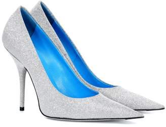 Balenciaga Slash Heel glitter pumps