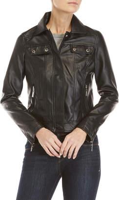 Joujou Jou Jou Faux Leather Trucker Jacket