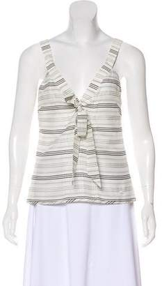 Chanel Striped Sleeveless Top
