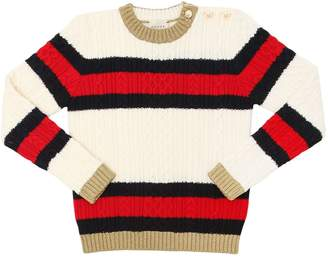 Gucci Web Merino Wool Knit Sweater
