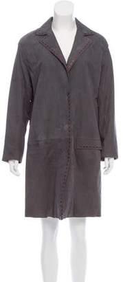 Bottega Veneta Knee-Length Suede Coat
