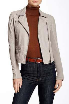 Muubaa Gulrro Genuine Leather Biker Jacket $475 thestylecure.com